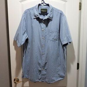 Eddie Bauer Striped Button-down Short Sleeve Shirt